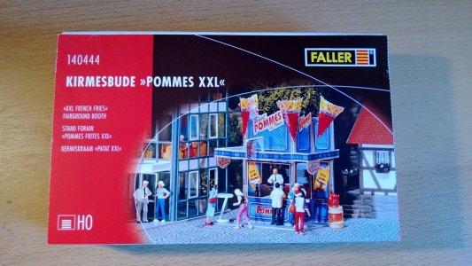 """Faller Kirmes 140444 Kirmesbude /""""Pommes XXL/"""" NEU//Folie"""