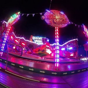 Break Dancer Rasch Off Ride, Abends, Coaster Freak ´´182´´